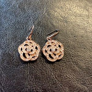 2/15 Rose gold tone earrings